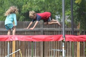 Wyatt & Amelia jumping